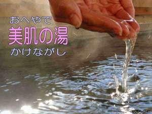 ■写真はイメージです■お肌つるつる!体ほかほか!天然温泉源泉をかけ流しで各お部屋のバスタブに給湯!■