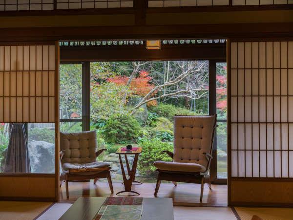 「別邸内庫所」は第11代佐賀藩主鍋島直大公の別邸として建てられたものです。『準貴賓室』無料wifi有り