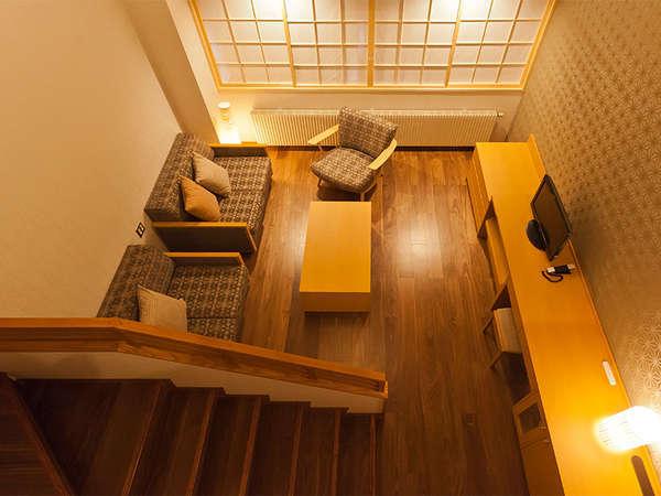 【本館ジャパニーズメゾネット】定員4名 人気の高いリビングルームです。
