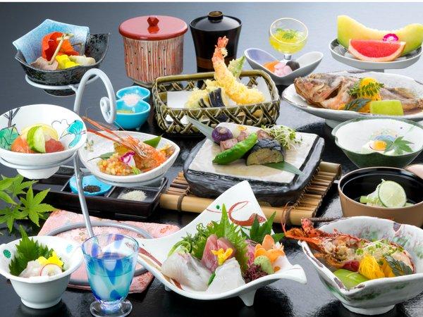 久須姫の膳一例※松阪牛、伊勢海老、旬の地魚の3種類の中から2品お選びいただけます。