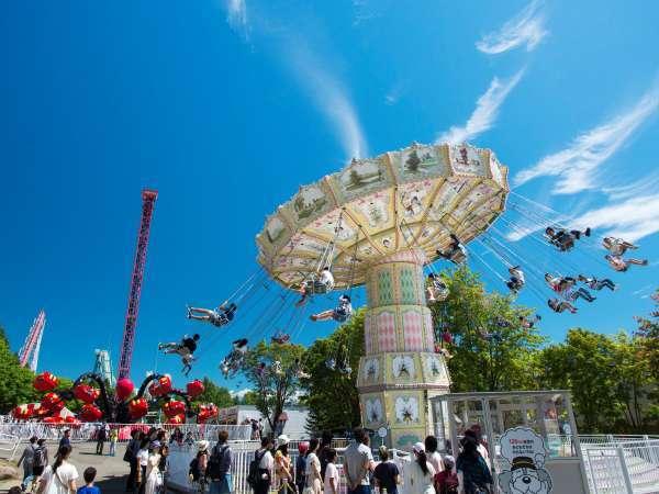 ■【遊園地】60数種類以上の乗り物たくさん★北海道の空の下思いっきり遊ぼう