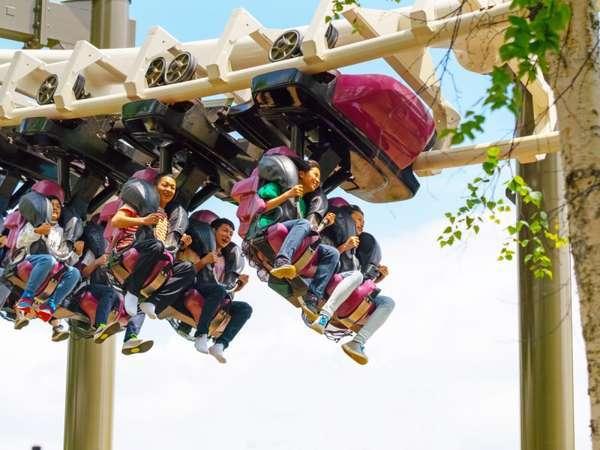 ◇【遊園地】絶叫コースターのハリケーン。登ったら一気に下降!スピード&スリル満点☆