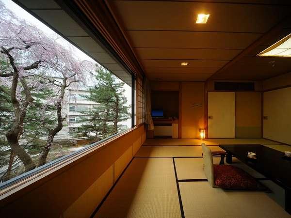 仙渓園「竹」の和室 春は桜 夏は新緑 秋は紅葉 冬は雪見