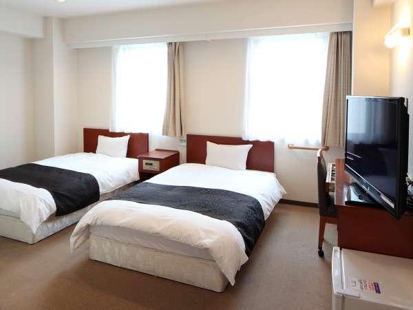 ツインルーム ~広さ23㎡・ベッド幅120cm×2台