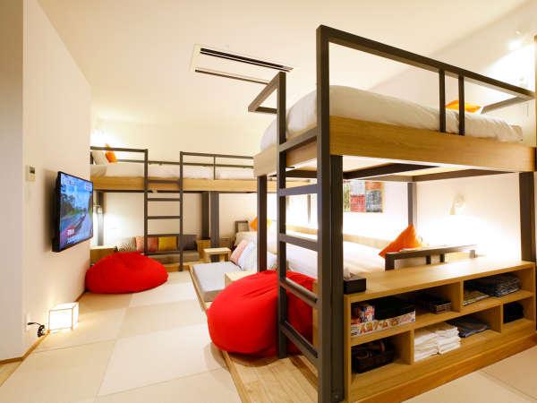 コンセプトルーム「Room TSUNAGARU」ベッドで寛ぎながら眺めるシアターTV完備!