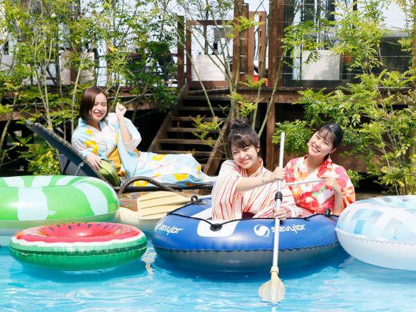 【テラスプール】夏がきたぞー!みんなでバシャバシャ♪プールではしゃいじゃおう!