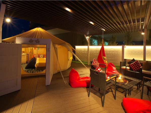 【GLAMPING OLIVE TERRACE SHIMABARA】焚火用ピット付き!専用テラス