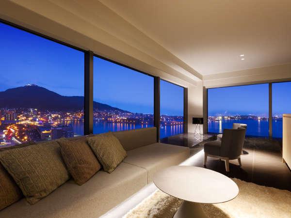 【客室】ロイヤルスイート/87㎡/客室最上階で美景を独り占め。最上級スイートルーム。