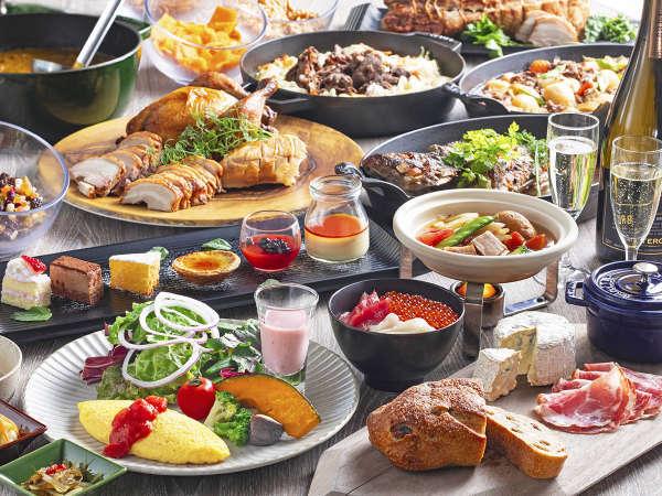 【朝食ビュッフェ一例】