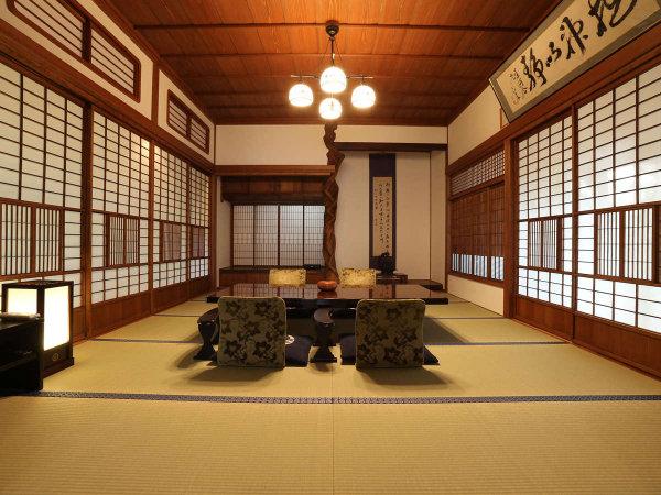 【貴賓室「桜御殿」】武家屋敷の玄関や床の間、書院など随所に質実剛健の様式美を表現
