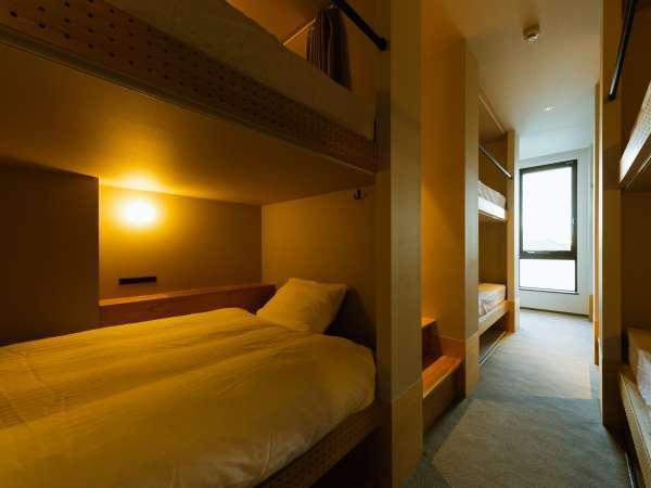 ドミトリールームは120cmのシモンズ社製ベッド