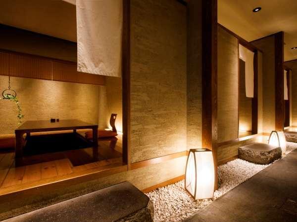 【食事処 蔵】純和風の食事会場には個室席もございます