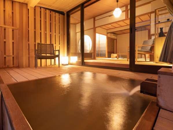 ■露天風呂付き客室【なでしこ】露天風呂を独り占め