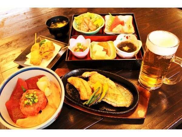 北かつまぐろ屋田中前店ご夕食付きプランメニュー内容