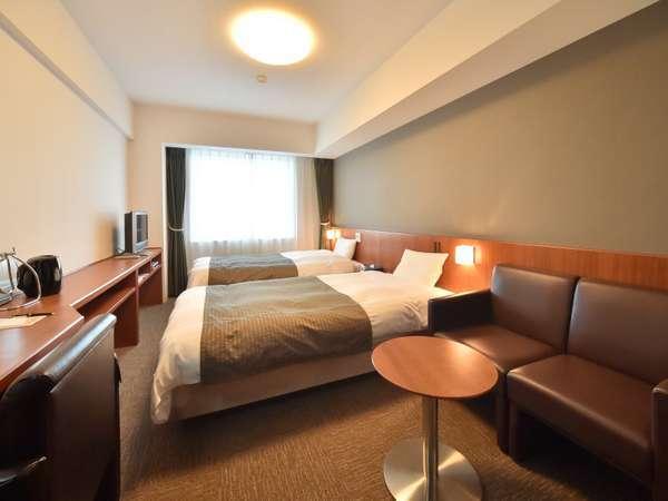 ◆【客室】ツイン 20.5平米 ベッドサイズ;110cm×205cm