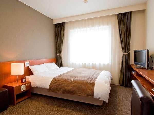 ◆【客室】ダブル 16.5平米 ベッドサイズ;145cm×205cm
