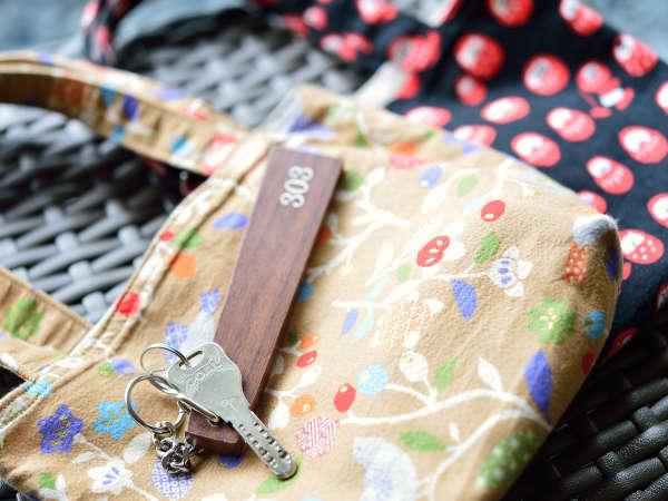 *【客室鍵バッグ】部屋の鍵は小さなバッグにいれてお渡しします