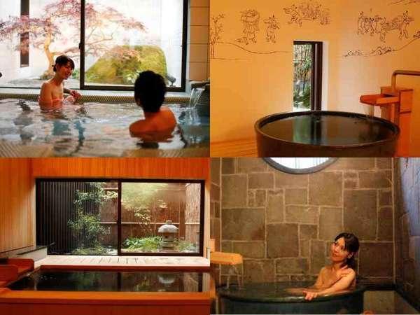 4つの貸切温泉は、予約なし無料♪本館「お宿 白山」と同じお風呂NAVIを設置♪