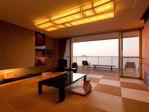 ■特別室「松伯」■モーラー邸最上階の絶景が楽しめる展望バルコニーを兼ね備えた和室タイプの特別室です。