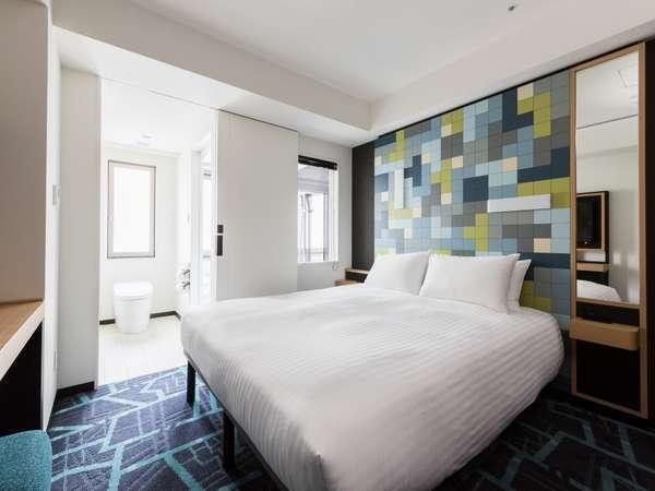 【客室】スーペリアステーションサイド・部屋広さ…17㎡・ベッド幅…160cm