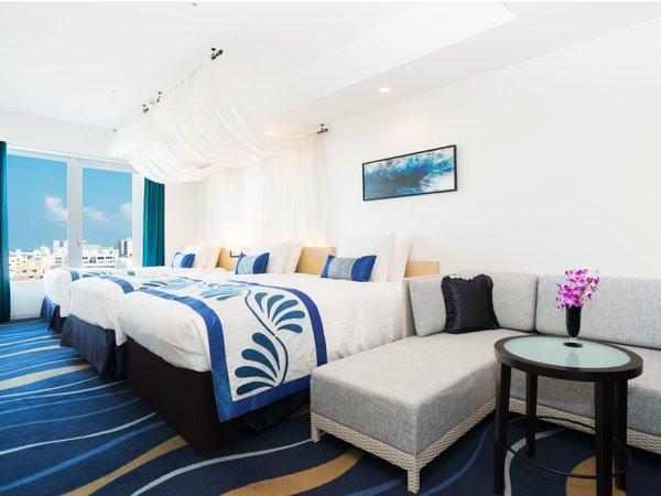 ご家族やグループの方も広々の全室35㎡以上のお部屋となっております。