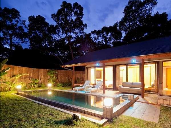 ◆薩摩ヴィラ/開放感を味わえる温泉水プライベートプール付