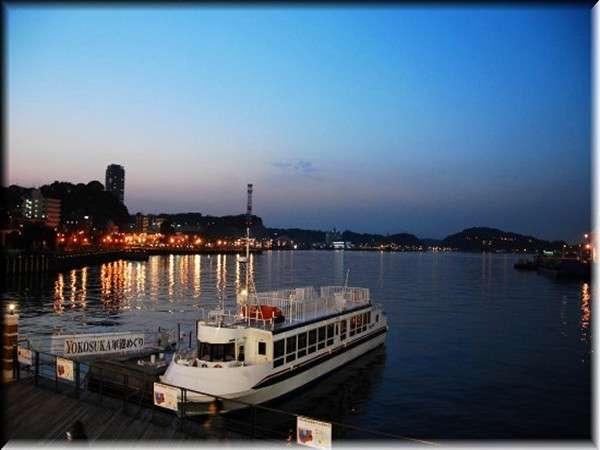夕暮れの汐入桟橋