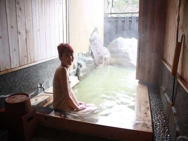 客室露天風呂イメージ/扉を開くと内湯から露天へ♪