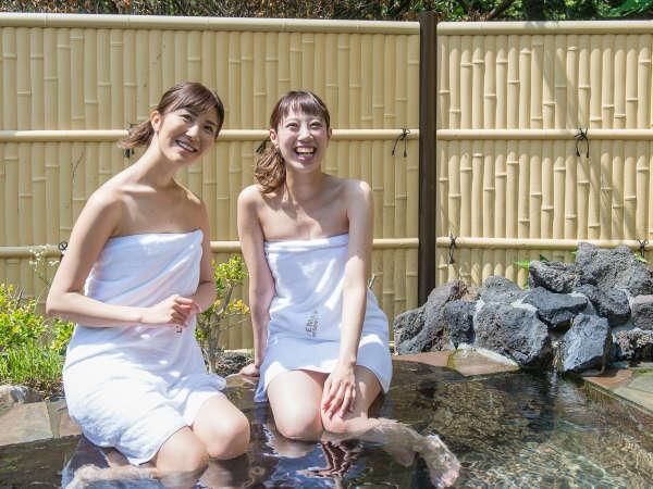 【泉質】カルシウム・ナトリウム・塩化物・硫酸塩源泉100%掛け流しの大浴場♪