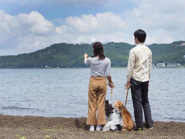 気持ちいい風を感じられる山中湖畔