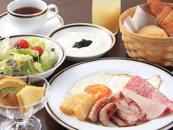 朝食一例:バイキング(本館レストラン)