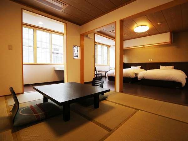 【和洋室】ゆったりセミダブルベッド+和室8畳