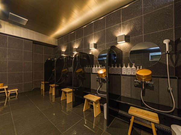 温泉のシャワーは5つ設置がございます!