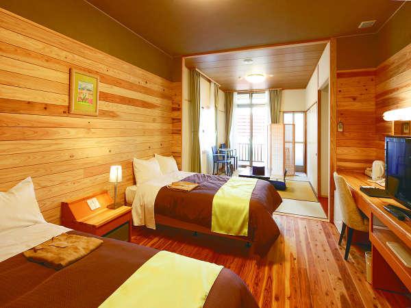 檜の香り漂う特別和洋室