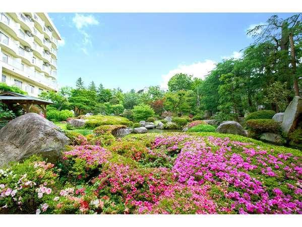 当館自慢の庭園です。