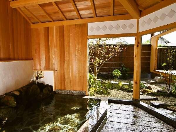 【天地感応(てんちかんのう)】客室の半露天風呂