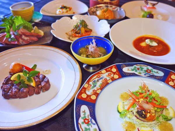 【夕食】料理の達人が真心を込めたモダン懐石「美味礼賛」をご堪能くださいませ。
