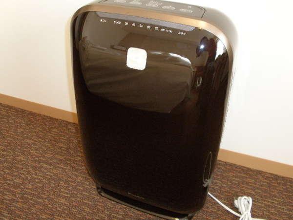 全客室に【加湿機能付空気清浄機】設置