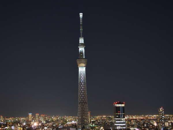 東京スカイツリー点灯