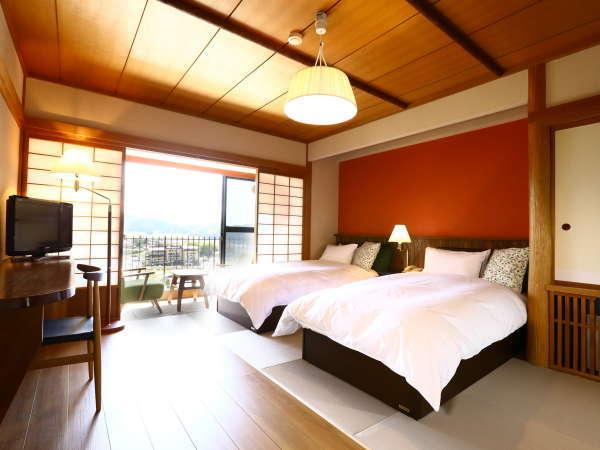 【ツインルーム】フローリングと琉球畳のお部屋