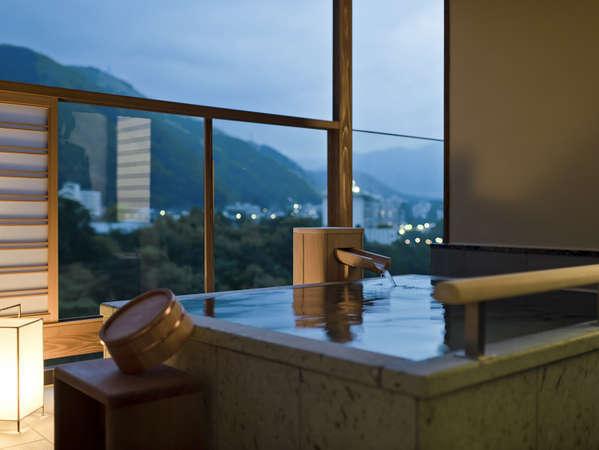 スイート洋室・グレードアップ和室の客室温泉露天風呂