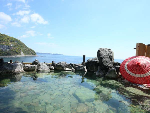 海を望む絶景の露天風呂