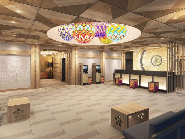 金沢武家文化の栄華を想わせる1階ロビー※画像はイメージです