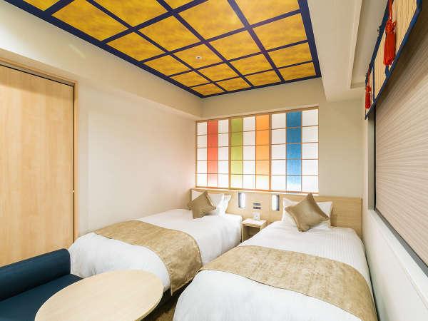 金沢らしさを随所に盛り込んだホテルおすすめのツインルーム※バスルーム3点分離式