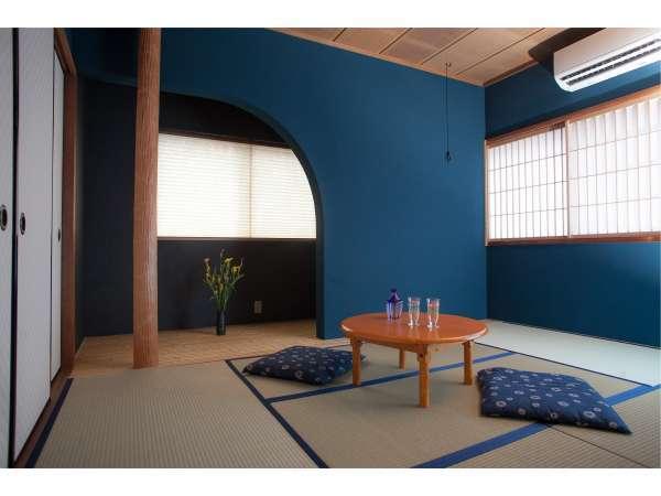 金沢の伝統的な和室「群青の間」