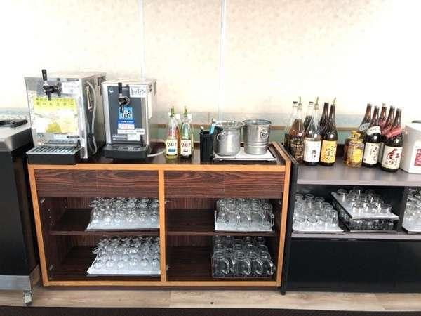 生ビール・酎ハイ・SPワイン・ウイスキー・ワイン・焼酎・日本酒・梅酒・ジュースなどが90分間飲み放題