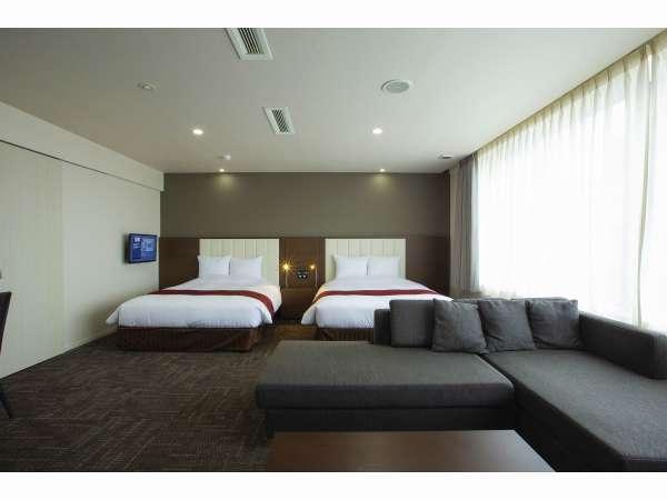 ◆グランスイート広さ50.60㎡/ベッド幅160㎝