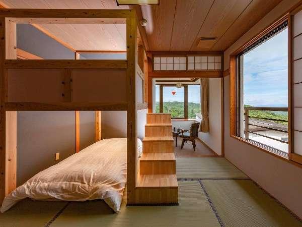 【LOFT/山小屋風和室 2段ベッド】2部屋共に間取りが異なります。