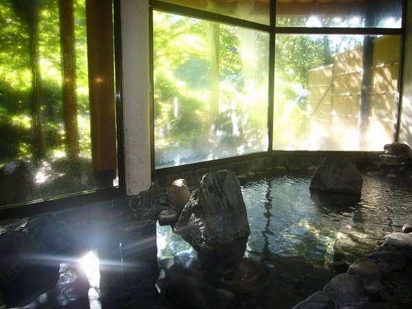 緑が気持ち良い朝の内風呂