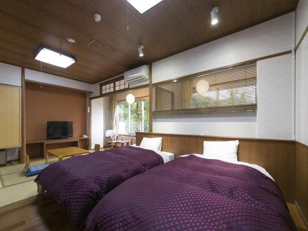 【1日8部屋限定の和洋室】2つのベッドとゆとりある空間でご旅行を少し贅沢にしてみてはいかがでしょうか?